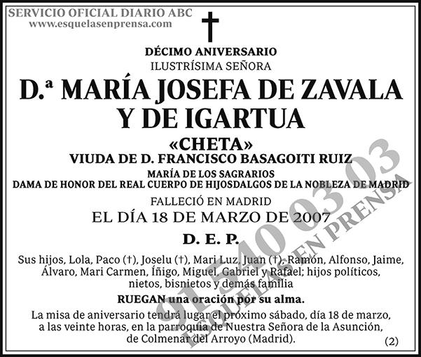 María Josefa de Zavala y de Igartua